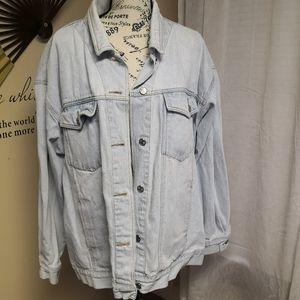 Vintage light denim oversized Jean jacket